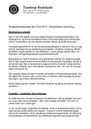 Bestyrelsens beretning 2013 - Taastrup Realskole
