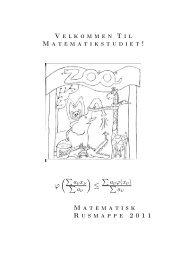 Rusmappe matematik 11 - Institut for Matematiske Fag ...