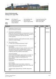 Referat af Bestyrelsesmøde Mandag, den 23. august 2010