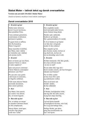 latin oversættelse