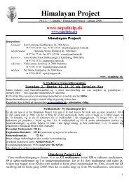 Nr.15 - 7. årgang - Januar 2006 - Himalayan Project