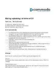 Se denne PDF vejledning og find inspiration til dit CV