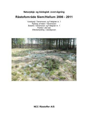 Biologisk overvågning i Siem/Hellum - NCC
