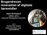 Brugerdreven Innovation af Digitale Læremidler