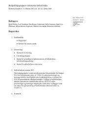 Referat af møde i budgetfølgegruppen vedr ... - Kirkeministeriet