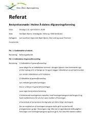 Referat fra bestyrelsesmøde d. 10. april 2013