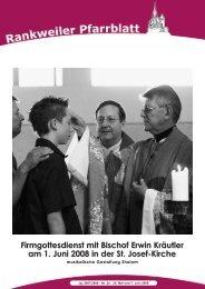 Firmgottesdienst mit Bischof Erwin Kräutler am 1. Juni 2008 in der St ...