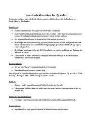 Servicedeklaration for fjernlån - Gentofte Bibliotekerne