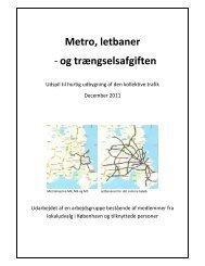 Metro, letbaner - og trængselsafgiften - Letbaner.DK