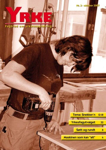 Klikk her for å få se hele Yrke nr 3 2007 - Utdanningsforbundet