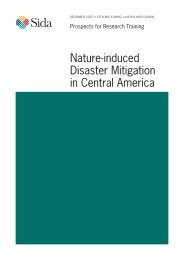nature-induced Disaster mitigation in central america - Sida