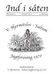 Siden sidst - Vester Hjermitslev-Saltum Jagtforening