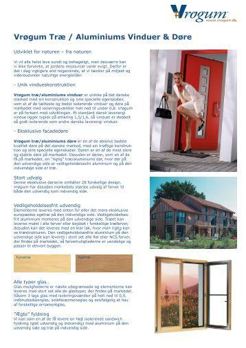 brugervejledning vinduer og døre træ | aluminium - Idealcombi