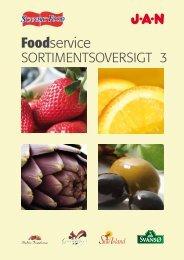 Læs mere i Food Service Sortimentsoversigten - Jan Import