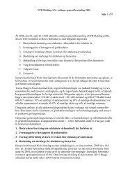 Referat af ordinær generalforsamling 2006 - NTR Holding A/S