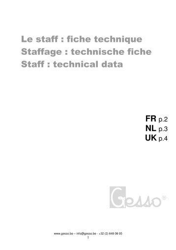Technische fiche verlichting - Stuckleisten