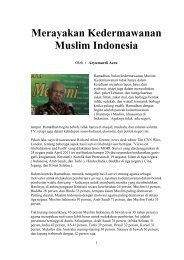 Merayakan Kedermawanan Muslim Indonesia