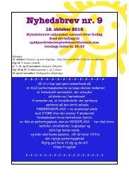 Nyhedsbrev nr. 09 – 12. oktober 2012 - Syddjurs Friskole
