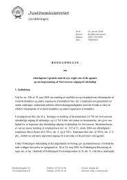 Redegørelse om erfaringerne i praksis med de nye regler om civile ...