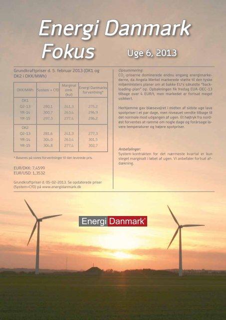Energi Danmark Fokus uge 6 - 2013