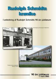Rudolph Schmidts krønike - Aurora Group Danmark A/S
