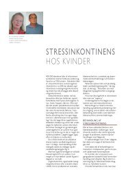 Stressinkontinens hos kvinder - gynækolog christine felding