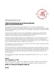 PRESSEMEDDELELSE - Post Danmark Rundt