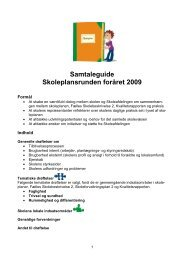 Samtaleguide Skoleplansrunden foråret 2009