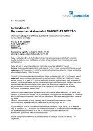 Indkaldelse til - Danske Ældreråd