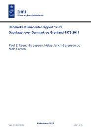 Ozonlaget over Danmark og Grønland 1979-2011 - DMI