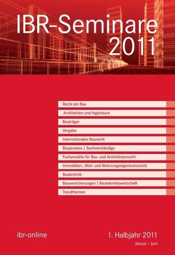 1. Halbjahr 2011 ibr-online