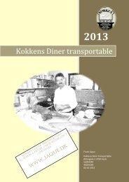 Udskriv menukort - Kokkens Diner Transportable