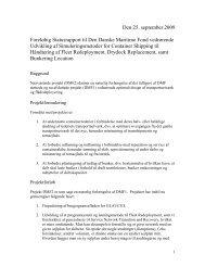 Rapport til Den Danske Maritime Fond