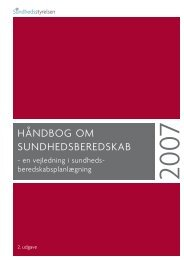 Håndbog om Sundhedsberedskab, 2007 - Nordhels