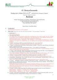 Referat fra 43. bestyrelsesmøde den 06. februar 2013 - blis - by- og ...