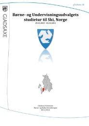 BUU's studietur til Ski, Norge - Gladsaxe Kommune