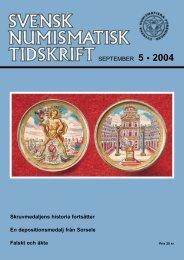 SEPTEMBER 5 • 2004 - Svenska Numismatiska Föreningen