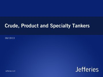 Crude, Product and Specialty Tankers - Marine Money
