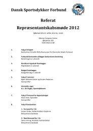 Referat Repræsentantskabsmøde 2012 - Dansk Sportsdykker Forbund