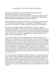 Beretning 2012 – 2013 for Årslev-Sdr. Nærå Lokalråd Ved sidste års ...