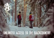 UNLIMITED ACCESS to the BACKCOUNTRY - Outdoor Action ...