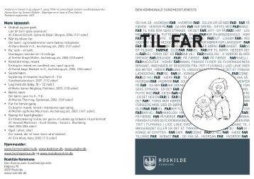 TIL FAR - Sundhedsplejen - Roskilde Kommune