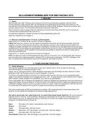 Sejladsbestemmelser Racing 2013 v1 - DBO