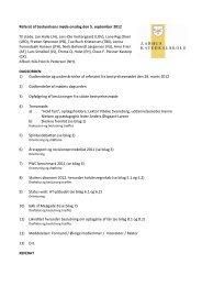 Referat af bestyrelsens møde mandag den 15