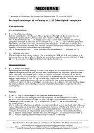 Ændringsforslag - Danske Mediers Forum