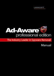 Ad-Aware SE Professional edition - Ad-Aware by Lavasoft