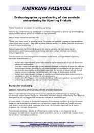 Evaluering samlede undervisning - Hjørring Friskole