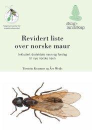 Revidert liste over norske maur - Skog og landskap