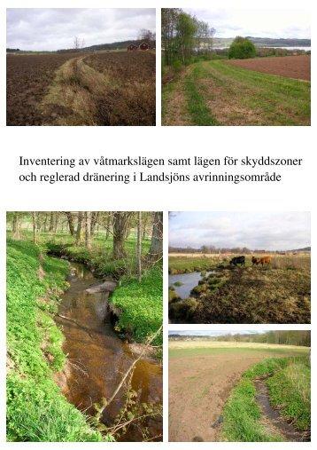 Inventering av våtmarkslägen samt lägen för skyddszoner och ...