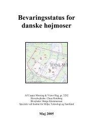 Bevaringsstatus for danske højmoser - Holmegaard Mose hjemmeside